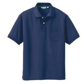 アイトス メンズ半袖ポロシャツ 034ネイビー M CL1000-034-M