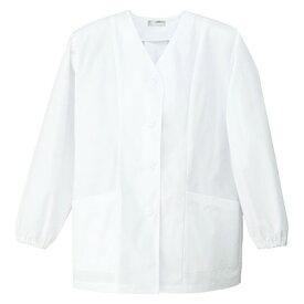 アイトス レディース衿なし調理着 001ホワイト 5L HH336-101-5L