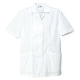 アイトス レディース衿付半袖調理着 001ホワイト M HH337-101-M