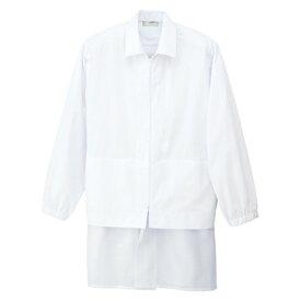 アイトス 衿付長袖ブルゾン(男女兼用) 001ホワイト 4L HH4317-001-4L