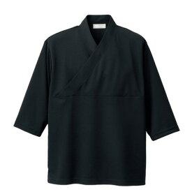 アイトス きもの衿ニットシャツ(男女兼用) 010ブラック M HS2900-010-M