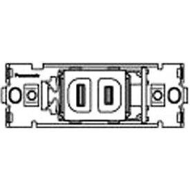 パナソニック 器具用フルカラー1Pコンセント×1 白 WCF2001W10 住宅・配線・電設資材 10個
