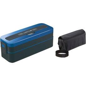 アスベル ランタスMC ランチボックス 2段 ブルー 幅22.6×奥行8×高さ8.2cm SS-T800C 0