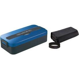 アスベル ランタスMC ランチボックス 1段 ブルー 幅22.7×奥行11.2×高さ6cm SS-800C 0