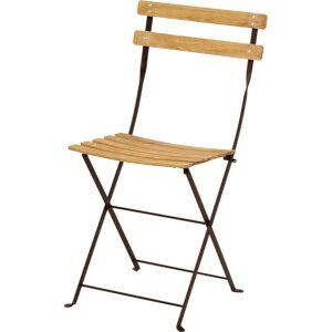 ビストロ ベランダチェア ブラウン ガーデンテーブル・チェア 650201410 1脚