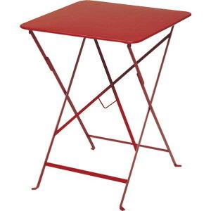 ビストロ ビストロ スクエアテーブル570 レッド ガーデンテーブル・チェア 650212310 1台