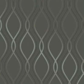 テンペーパー TEMPAPER 貼ってはがせる壁紙シール ティア ドロップ チャコール&メタリックシルバー 幅:52cm 長さ:10m IM468 1本