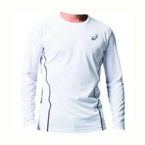 アシックス ウィンジョブ ロング スリーブシャツ(空調服専用インナー) 3XL ブリリアントホワイト/ダークグレー 2271A008 1着