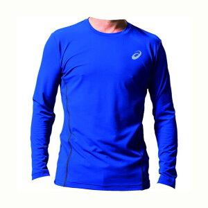 アシックス ウィンジョブ ロング スリーブシャツ(空調服専用インナー) 400(アシックスブルー×ダークグレー) L 2271A008 1着