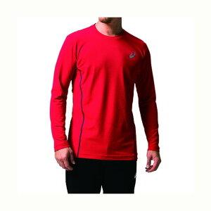 アシックス ウィンジョブ ロング スリーブシャツ(空調服専用インナー) 600(クラシックレッド×ダークグレー) S 2271A008 1着