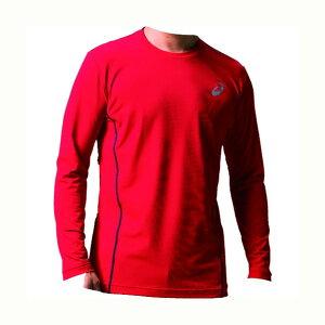 アシックス ウィンジョブ ロング スリーブシャツ(空調服専用インナー) 600(クラシックレッド×ダークグレー) XL 2271A008 1着
