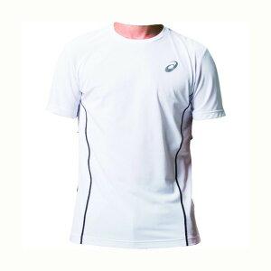 アシックス ウィンジョブ ハーフ スリーブシャツ(空調服専用インナー) 100(ブリリアントホワイト×ダークグレー) M 2271A010 1着