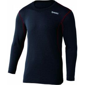 おたふく手袋 デュアルメッシュ ロングシャツ LL ブラック×レッド 胸囲:104-112 身長:175-185 JW-602 オタフク
