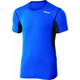 おたふく手袋 デュアルメッシュ ショートシャツ LL ブルー×ネイビー 胸囲:104-112 身長:175-185 JW-601 オタフク