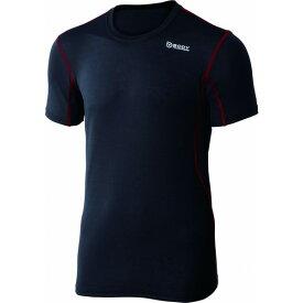 おたふく手袋 デュアルメッシュ ショートシャツ 3L ブラック×レッド 胸囲:108-116 身長:175-185 JW-601 オタフク