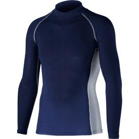 おたふく手袋 冷感・消臭パワーストレッチ 長袖ハイネックシャツ S ネイビー 胸囲:80-88 身長:155-165 JW-625 オタフク