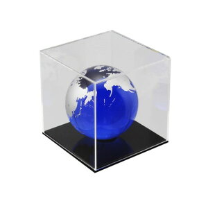 ハイロジック 透明アクリルケース 6面(底板黒) 100×100×300mm Hexb113 1個