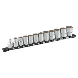 トネ ソケットセット(12角・ホルダー付)インチサイズ 12pcs HDB412