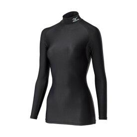 ミズノ ミズノ コンプレッションアンダーシャツ ハイネック長袖 レディースM ブラック 300×210×15MM H2JTRE0709-M 1個