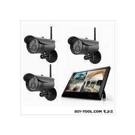 マザーツール 高解像度ワイヤレスセキュリティカメラシステム/カメラ3台セット W255xH173x D38mm MT-WCM300-3 1セット