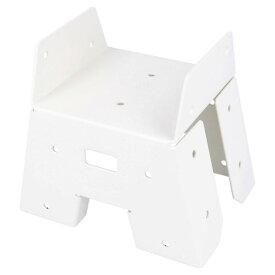 DIY-ID 白塗装ソーホースブラケット 白 ID-019 2個