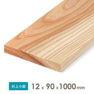 織田商事 杉乾燥板材(仕上げ材) 12x90x1000 厚みx幅x長さ(mm) 約0.51kg 1本