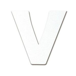 ダイドーハント 磁気ステッカー アルファベット(マグネット切り文字 V) ホワイト 50×50mm 10177771 1個