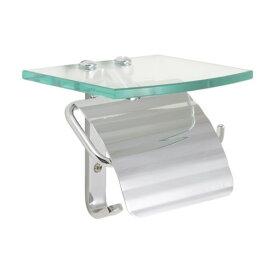 ゴーリキアイランド トイレットペーパーホルダー TPH ガラスシェルフ S CR 銀色 幅150×高さ134×奥行140mm 640463 1個