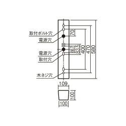 Panasonic/パナソニック防湿型・防雨型照明器具ウォールライト20形定格出力型ステンレス製昼白色NNFW21800CLE91台