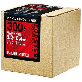 エビ ブラインドリベットスティール/スティールNS88EB(100本入) 90 x 90 x 90 mm NS88EB 100本