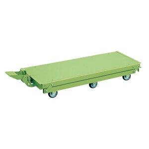 サカエ 作業台オプションペダル昇降台車(6輪車) カラー:サカエグリーン KTW-127Q6DPS 1台