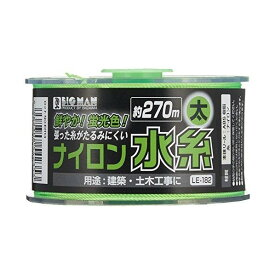 BIGMAN リール巻ナイロン水糸 太 グリーン 4.5cm×8cm×8cm LE-182 1ヶ