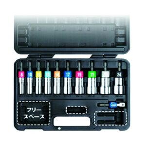 TOP TOP 電動ドリル用アルファソケットセット 230 x 310 x 65 mm EDX-824AS 1個