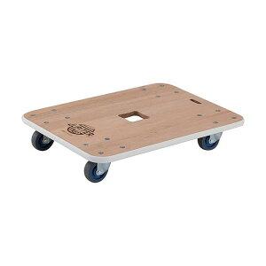 木製平台車 ジュピター 450×450 φ75 200kg JUP-4545-200