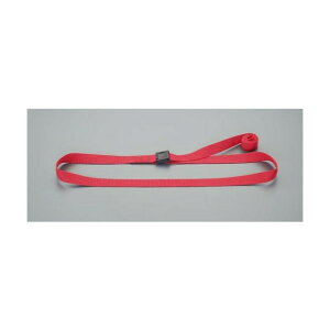 エスコ(esco) 25mmx4.0m 荷締ストラップ(赤) EA982BA-124 1個