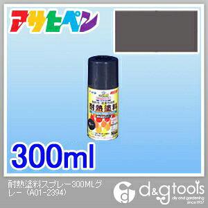 アサヒペン 耐熱塗料スプレー グレー 300ml