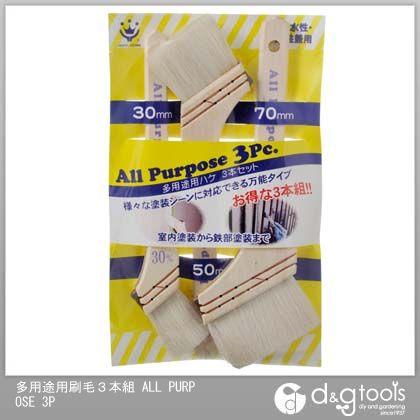ハンディクラウン 多用途用刷毛 ALL PURPOSE 30、50、70mm 3本組 ハケ 筆