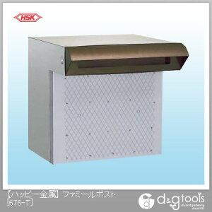 ハッピー金属 ファミールポスト(ステンレスポスト)ポスト口一体型 (676-T) ハッピー金属 郵便ポスト・宅配ボックス 壁付け郵便ポスト