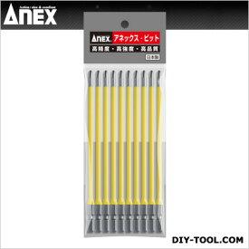 カネコセイサクショ アネックスカラービット段付+2×150(1Pk(袋)=10本入) 黄 +2*150 AC-16M 10 本