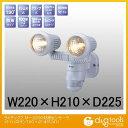 ムサシ ライテックス M−2200防雨センサーライト(ハロゲン100×2) センサーライト 431241