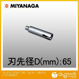 ミヤナガ ウツデイングコア/ポリカッターΦ65(刃のみ) 65×130 PCWS65C