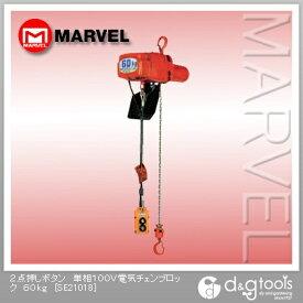 マーベル 2点押しボタン単相100V電気チェンブロック 60kg SE21018
