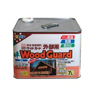 アサヒペン 油性ウッドガード外部用 ライトオーク02 7L
