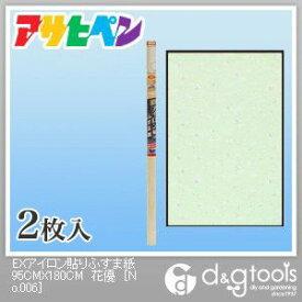 アサヒペン EXアイロン貼りふすま紙 花優 幅95cm×長180cm No.206 2 枚