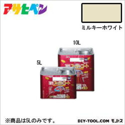 アサヒペン油性スーパーコートミルキーホワイト5L塗料ペンキ油性油性塗料油性ペンキペンキ塗料