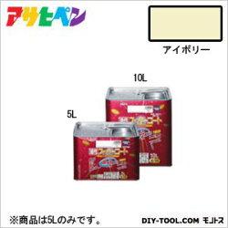 アサヒペン油性スーパーコートアイボリー5L塗料ペンキ油性油性塗料油性ペンキペンキ塗料