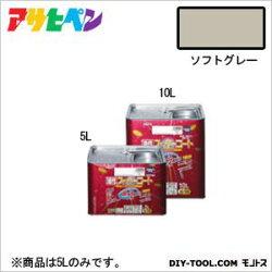 アサヒペン油性スーパーコートソフトグレー5L塗料ペンキ油性油性塗料油性ペンキペンキ塗料