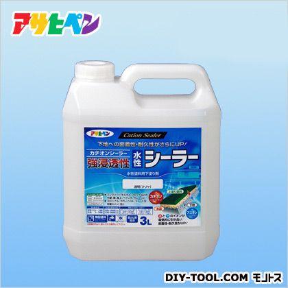 アサヒペン 強浸透性水性シーラー3L クリヤ 3L プライマー 塗料 下塗り