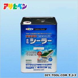 アサヒペン 強浸透性水性シーラー 14L クリヤ プライマー 塗料 下塗り 1個