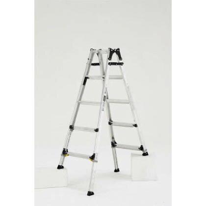 アルインコ 伸縮脚付はしご兼用脚立ワイドステップ60mm楽伸 PRW150FX
